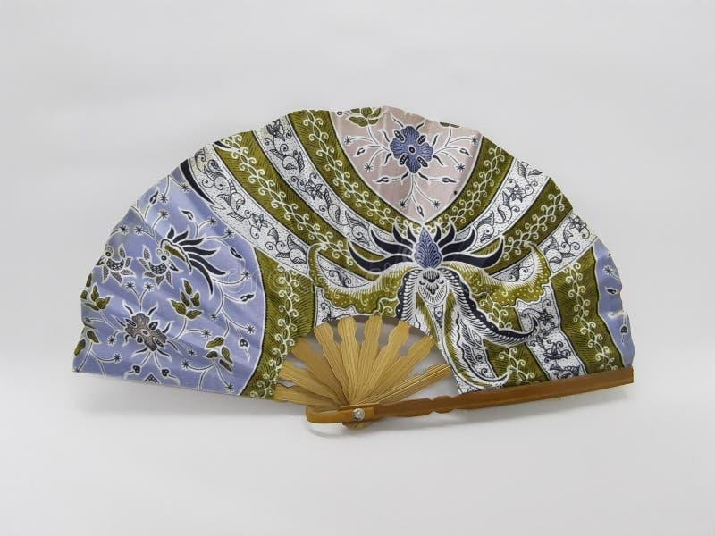 与织品袖子24的木竹丝绸折叠的爱好者中国日本葡萄酒减速火箭的样式手工制造丝绸花卉样式手爱好者 库存图片