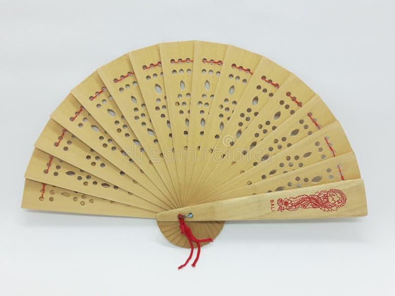与织品袖子26的木竹丝绸折叠的爱好者中国日本葡萄酒减速火箭的样式手工制造丝绸花卉样式手爱好者 库存图片