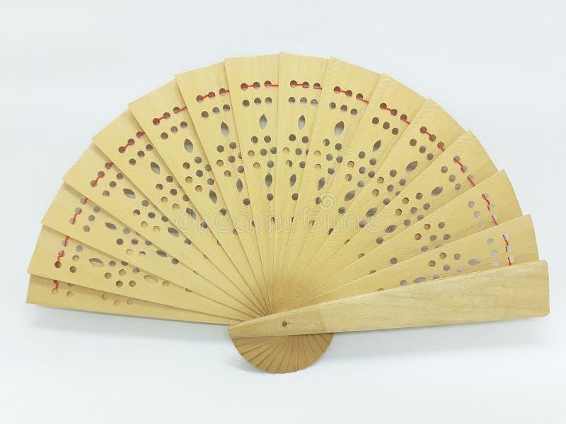 与织品袖子28的木竹丝绸折叠的爱好者中国日本葡萄酒减速火箭的样式手工制造丝绸花卉样式手爱好者 库存照片