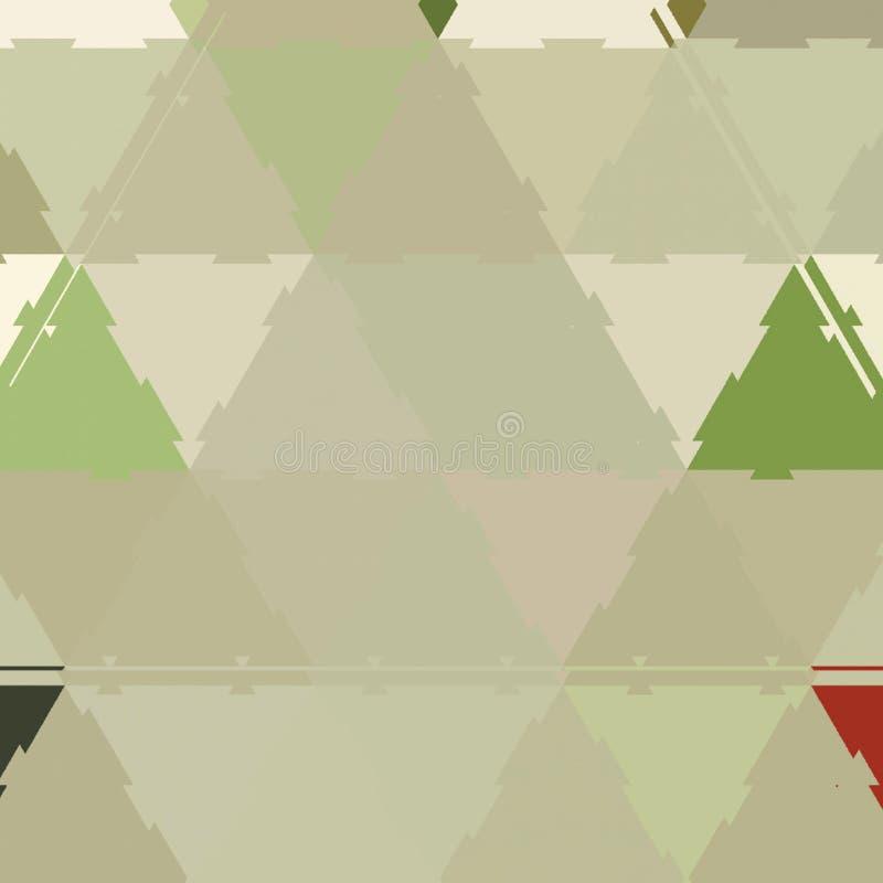 与织地不很细在现代样式分层堆积的三角和形状的抽象背景 库存例证