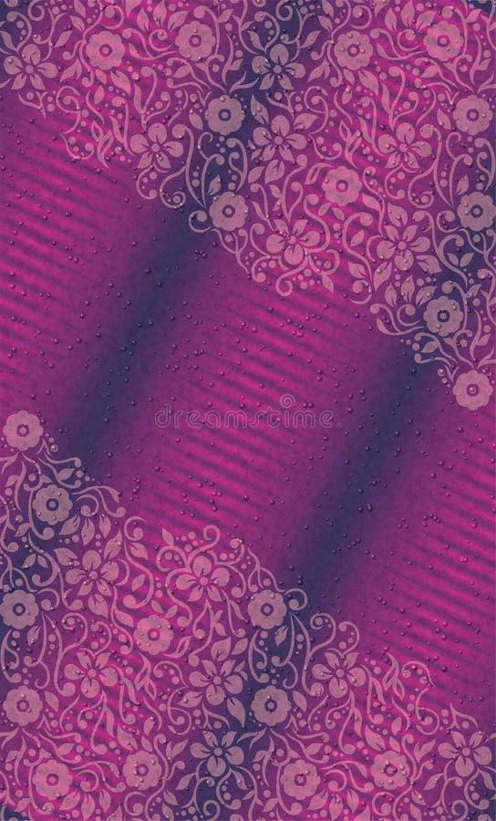 与织地不很细泡影的紫外花卉墙纸导航例证