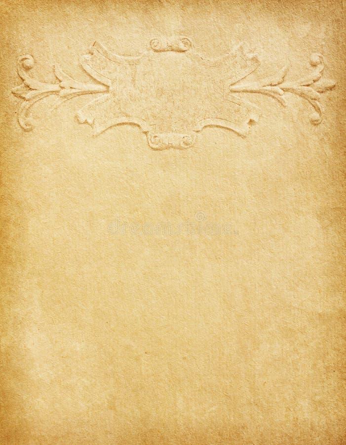 与经典模式的老纸张 免版税库存照片