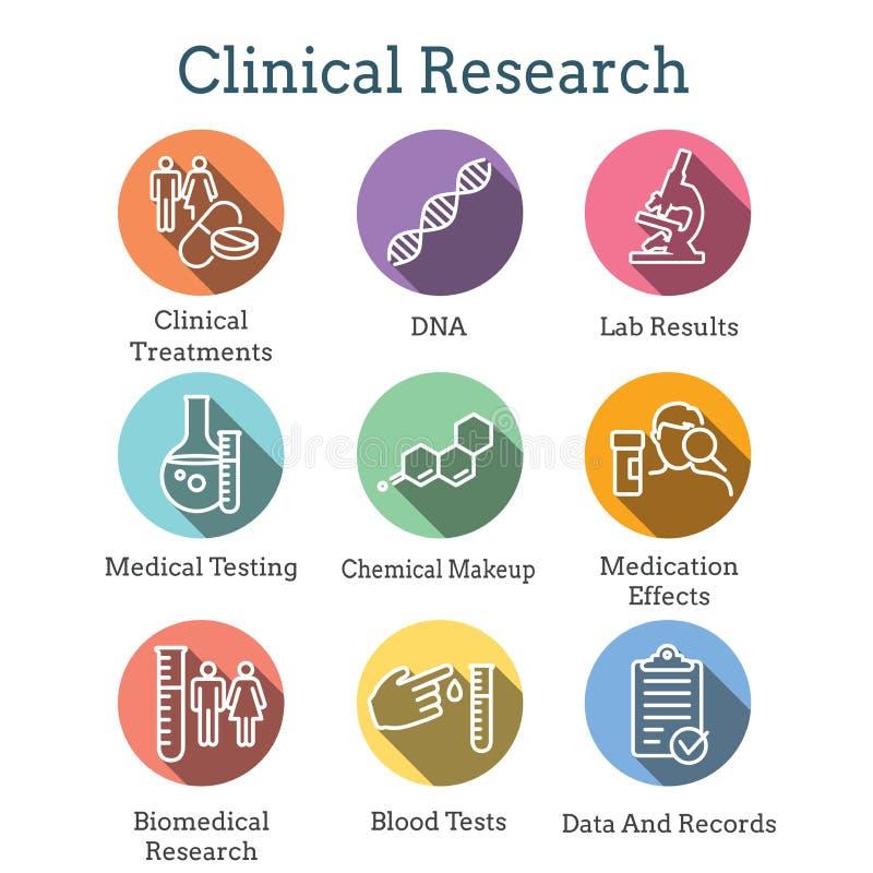 与绘制疾病或科学发现新的雇员图表的人的医疗医疗保健象聘用被设置的处理象 向量例证