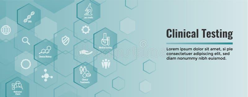 与绘制疾病或科学发现网倒栽跳水横幅图表的人的医疗医疗保健象 皇族释放例证