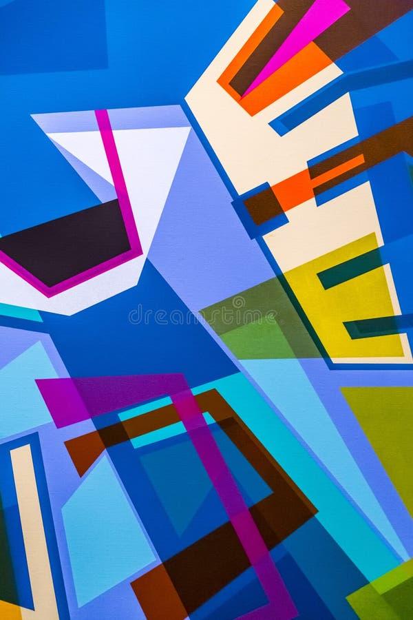 与绘画的技巧的抽象绘画细节纹理背景 库存照片