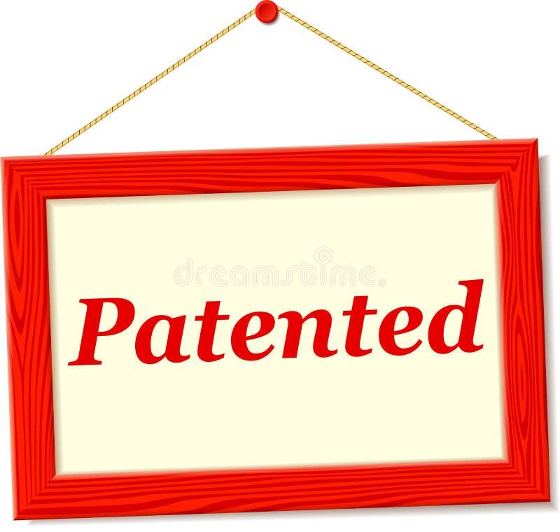 与给予专利的文本的牌 向量例证