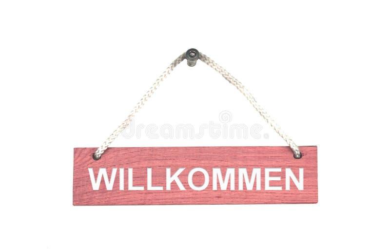 与绳索的木标志:受欢迎的德语 免版税图库摄影
