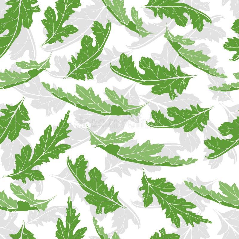与绿色叶子的无缝的样式 与绿色叶子的不尽的纹理设计的 皇族释放例证