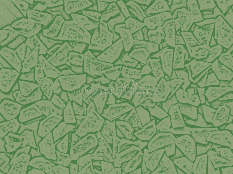 与绿色装饰片段的样式 免版税库存照片