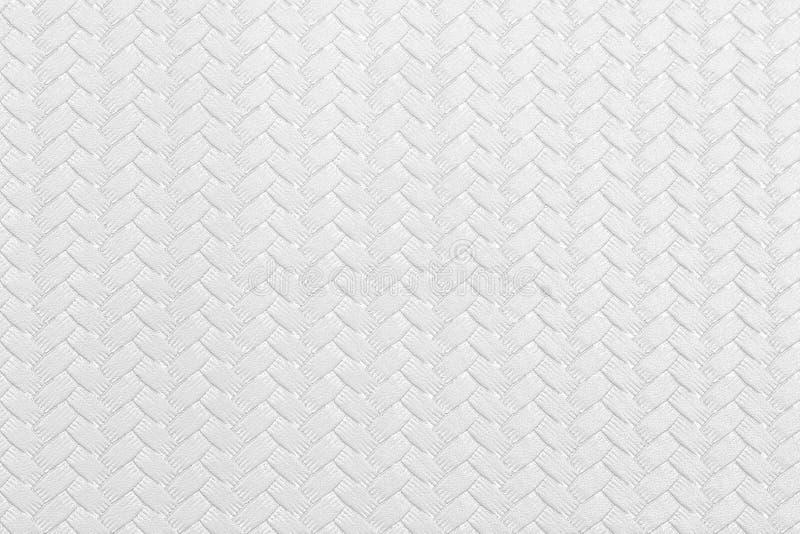 与缆绳样式的织地不很细白色背景 免版税库存照片