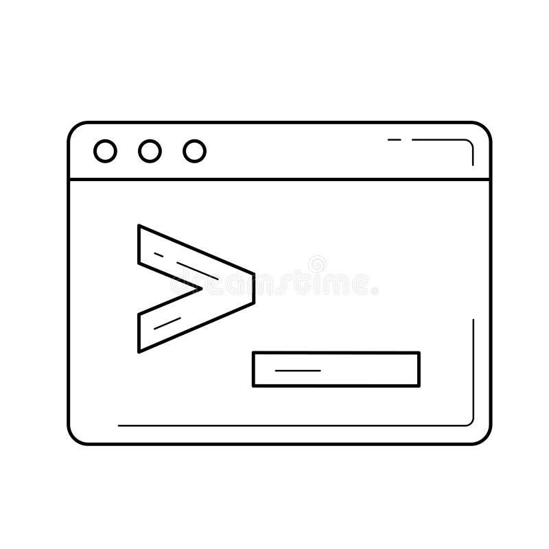 与编制程序命令行象的浏览器视窗 向量例证