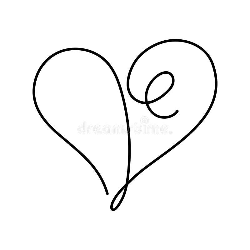 与编辑可能的冲程的心脏实线图画在传染媒介例证 库存例证