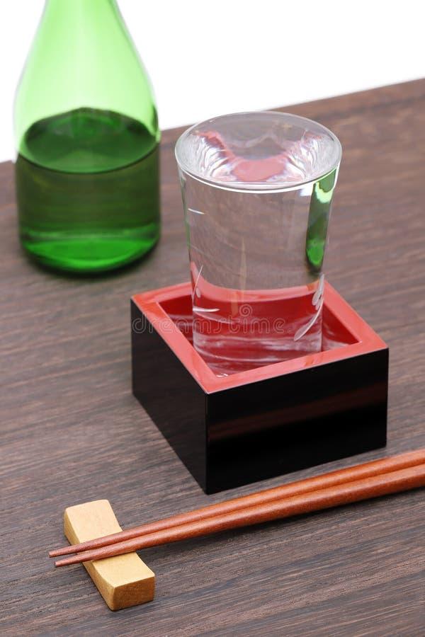 与缘故的日本木箱masu 库存图片