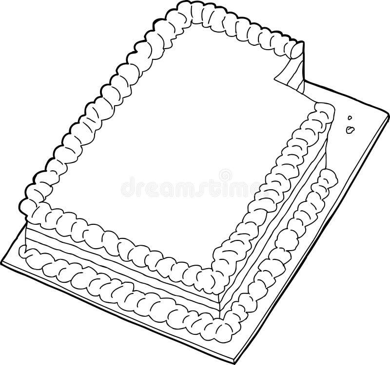 与缺掉切片的被概述的蛋糕 向量例证