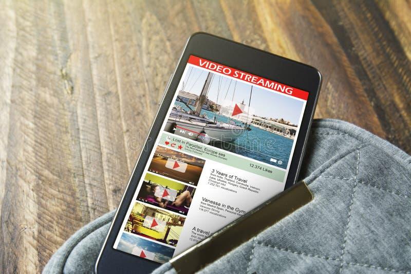 与网上录影的屏幕机动性 免版税图库摄影