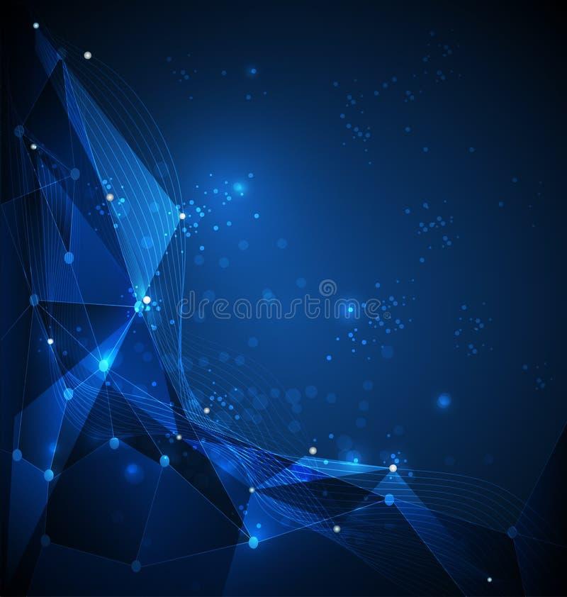 与网际空间的抽象技术背景 向量例证