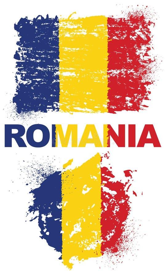 与罗马尼亚的旗子的难看的东西元素 免版税库存图片