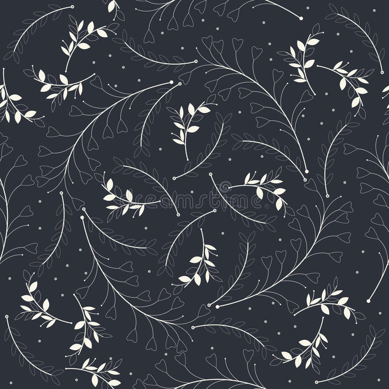 Download 与美丽的白色植物剪影的无缝的样式 向量例证. 插画 包括有 叶子, 灰色, 图画, 颜色, 蓝色, 日期 - 72362108
