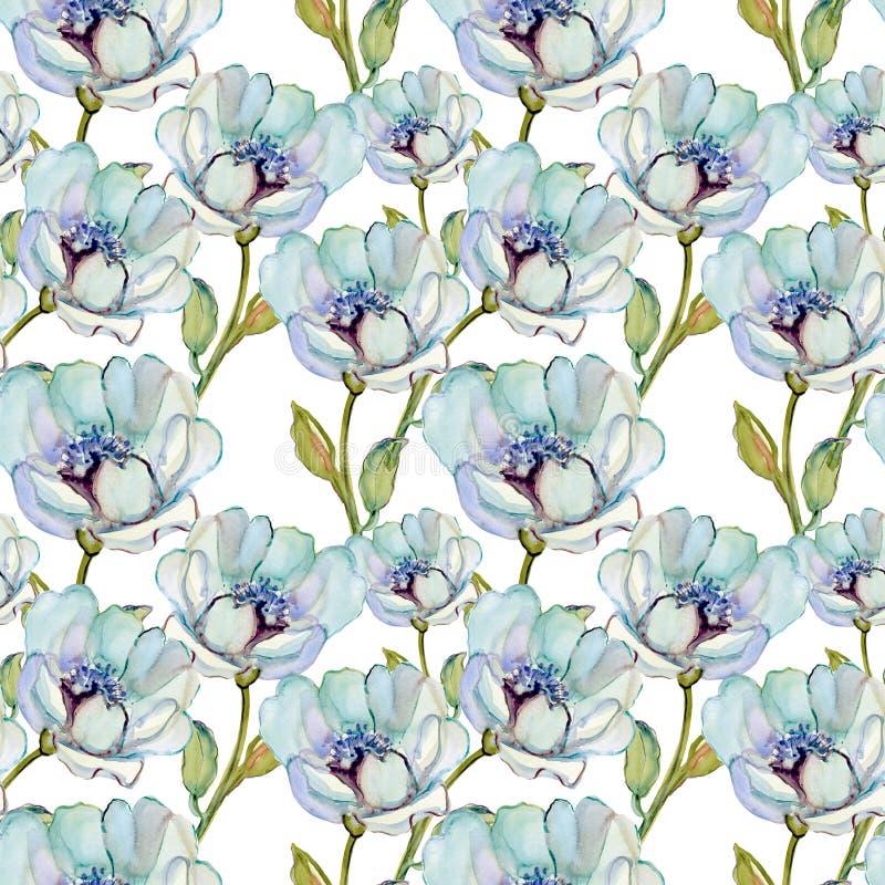 与美丽的花的无缝的样式 皇族释放例证
