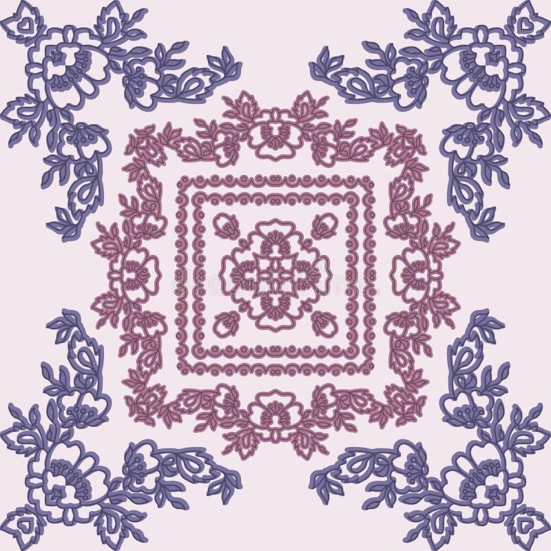 与美丽的花的无缝的模式 皇族释放例证