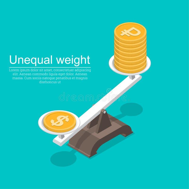与美元的标志的硬币 向量例证