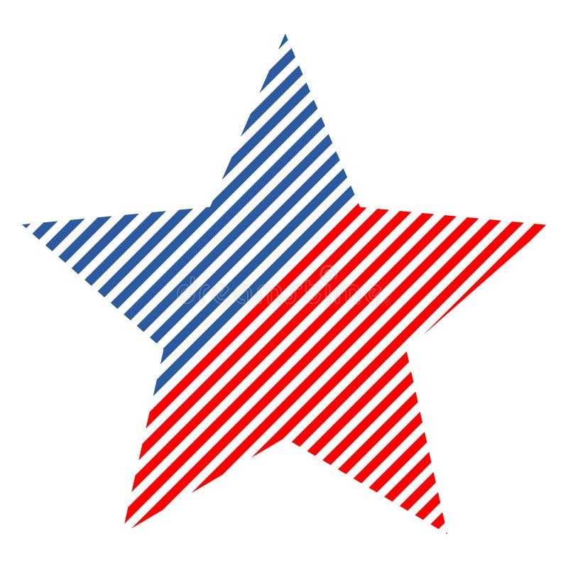 美国国旗_与美国国旗的抽象传染媒介设计元素星. 蓝色, 人兽交.