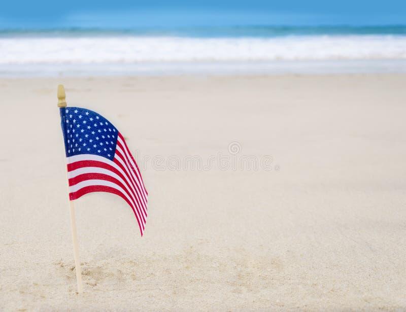 与美国国旗的爱国美国背景 免版税库存图片
