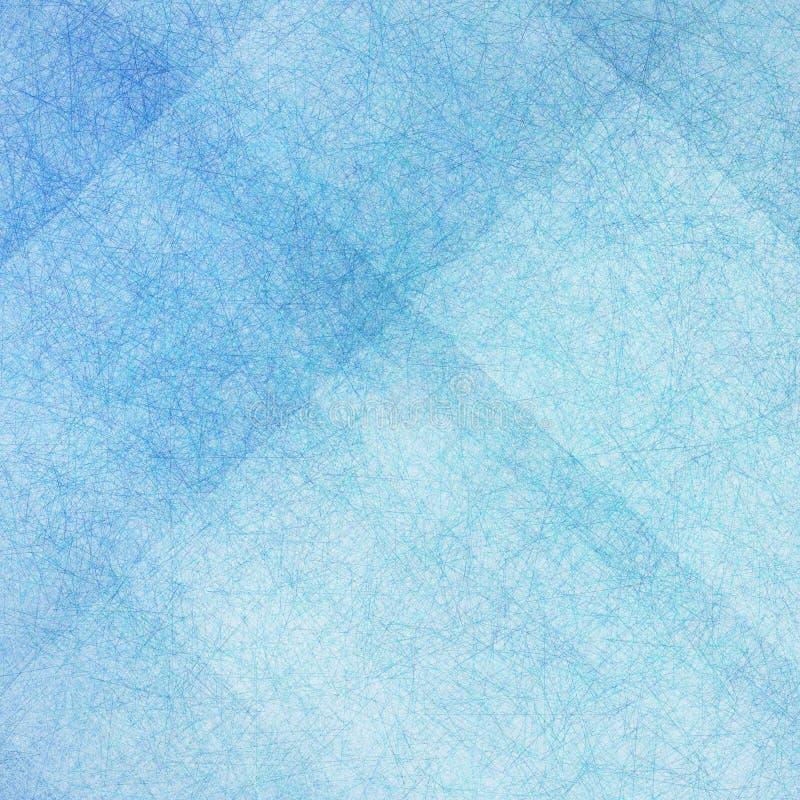 与美好的明细行纹理设计的抽象蓝色背景 库存例证