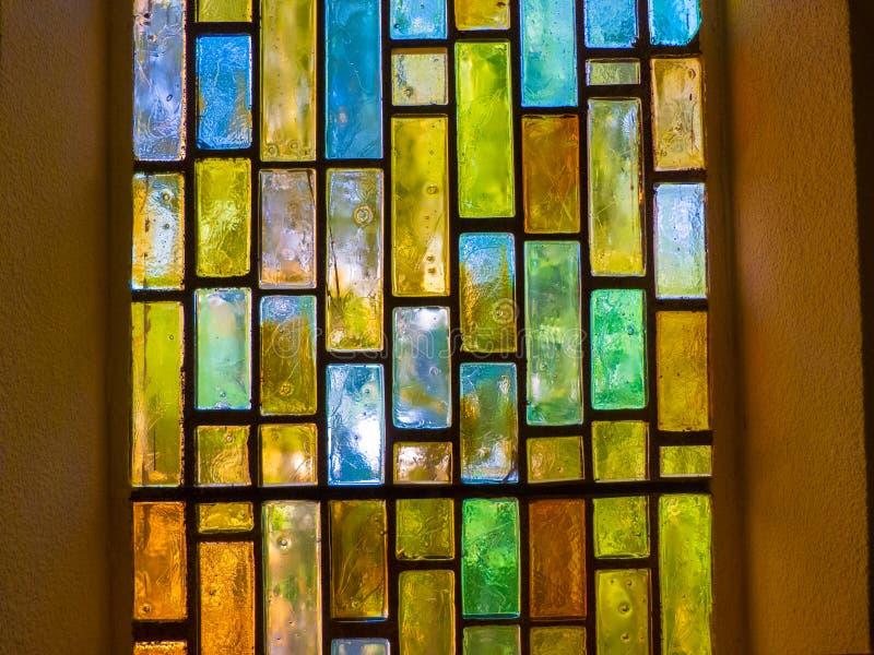 与美好的颜色的彩色玻璃 库存图片