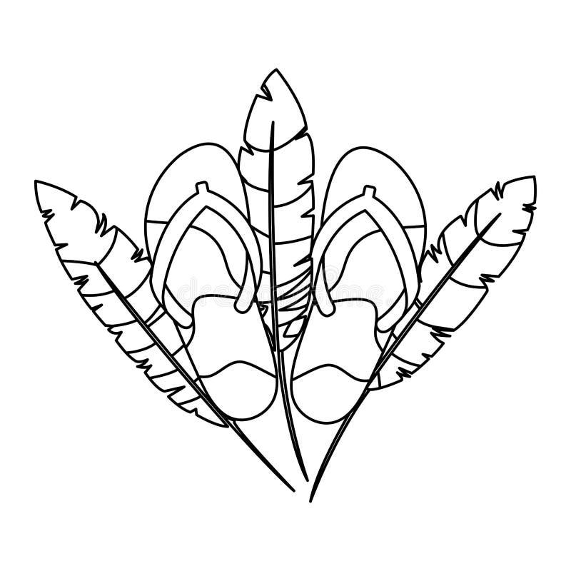 与羽毛的巴西狂欢节触发器 向量例证