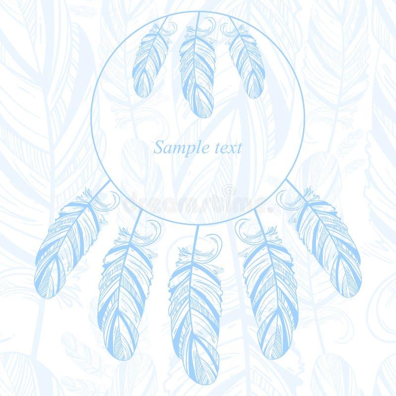 与羽毛的柔和的抽象背景 库存例证