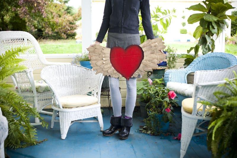 与翼的心脏 免版税库存图片