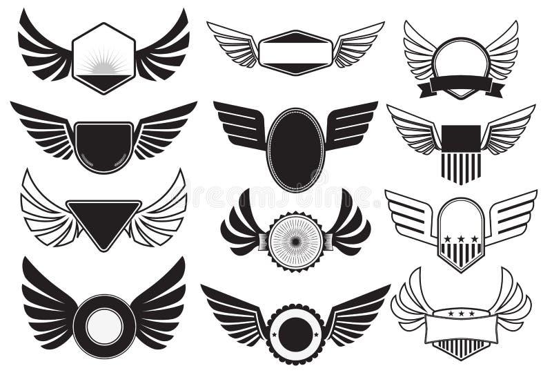 与翼的象征 皇族释放例证