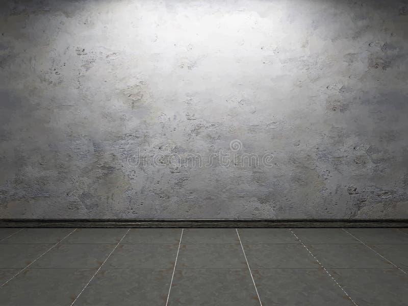 与老混凝土墙的内部 库存例证