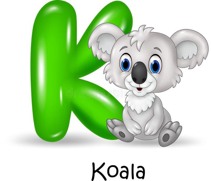与考拉的字母表K 皇族释放例证