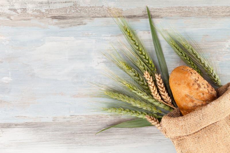 与耳朵的麦子面包 免版税图库摄影