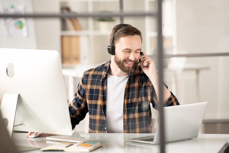 给客户打电话 免版税库存照片