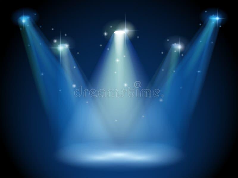 与聚光灯的一个空的阶段 皇族释放例证
