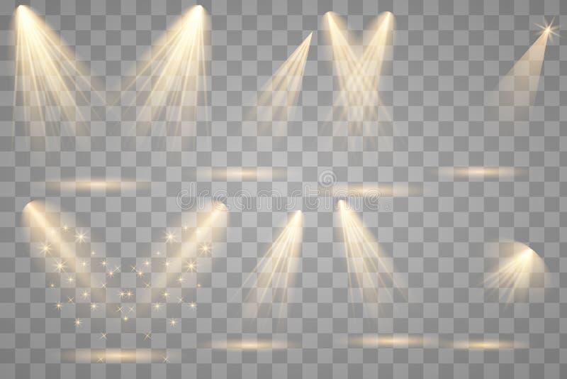 与聚光灯的明亮的照明设备 免版税库存图片