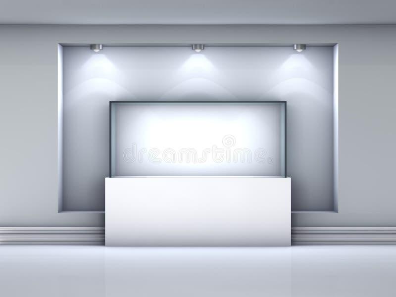 与聚光灯的陈列室和适当位置在画廊 皇族释放例证