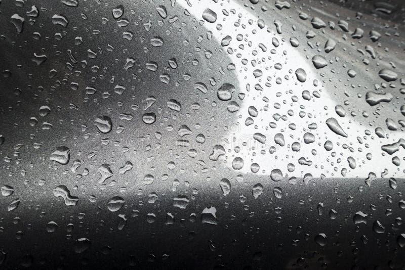 与聚焦雨下落的灰色 免版税库存图片
