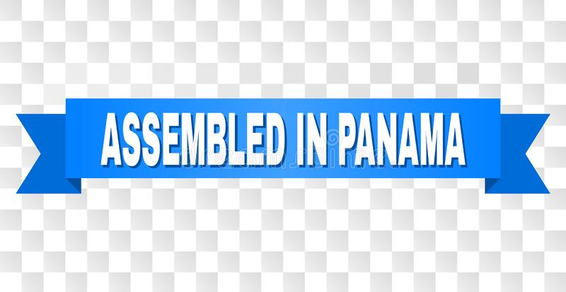 与聚集的蓝色条纹在巴拿马文本 皇族释放例证