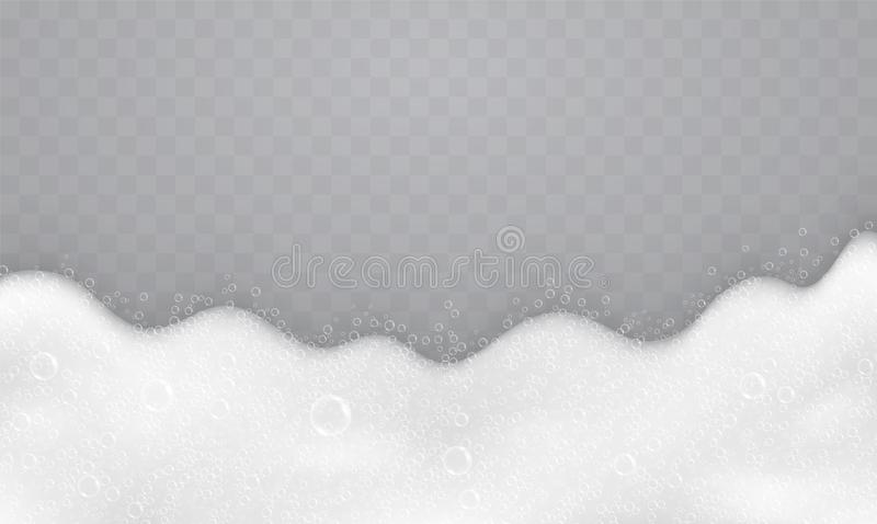 与肥皂泡的泡沫,顶视图 肥皂和香波流程  皇族释放例证
