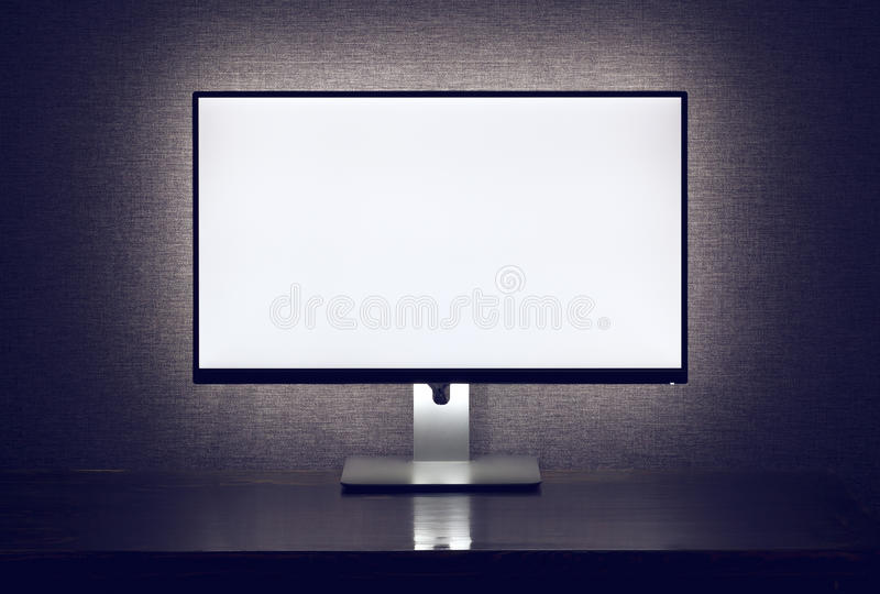 与背后照明的空白的显示器 库存照片