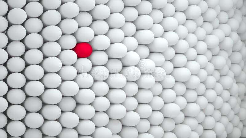 与胶囊的抽象背景白色与红色小点 向量例证