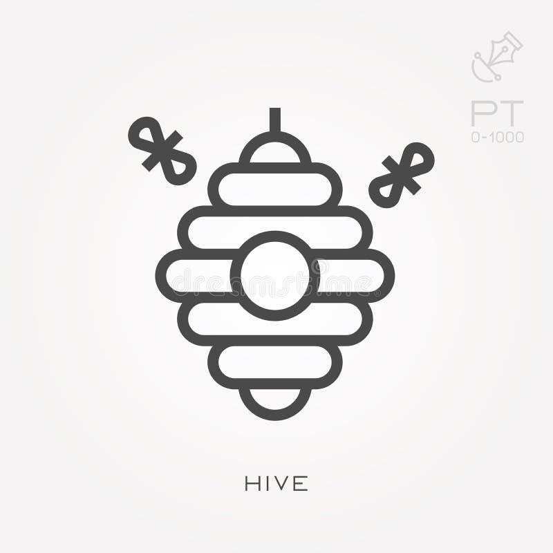 与能力的简单的传染媒介例证改变 线象蜂房 向量例证