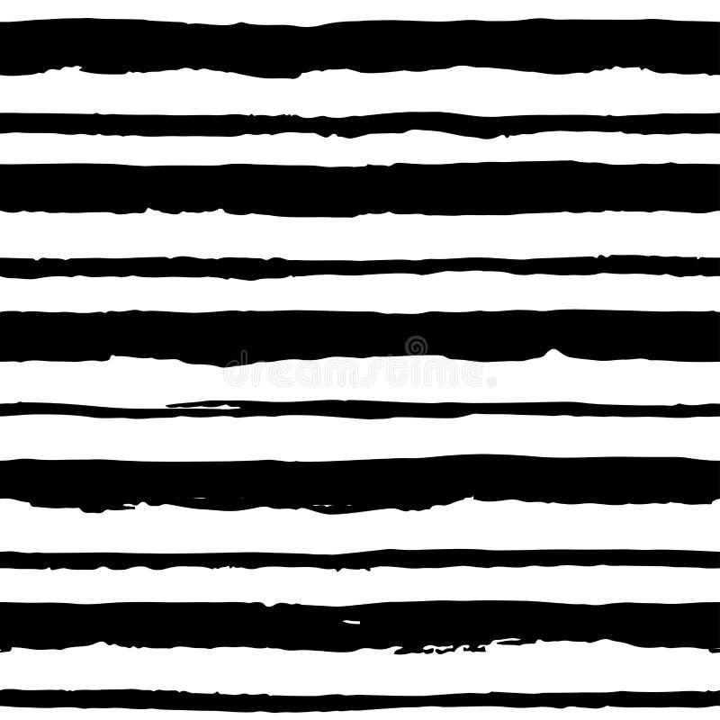 与脏的条纹的无缝的样式 向量例证