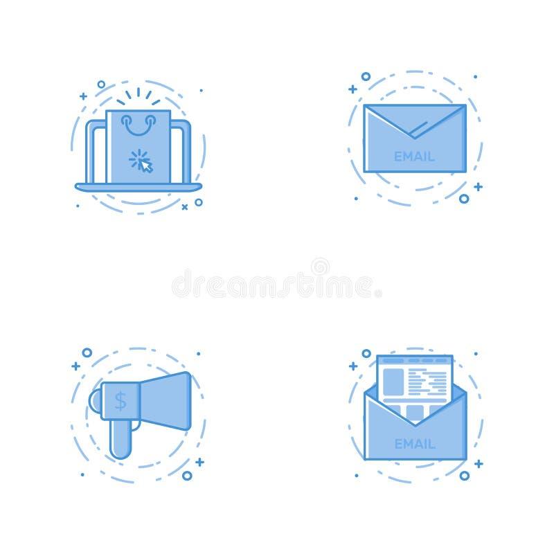 与膝上型计算机与,电子邮件、报告人和信件的象 库存照片