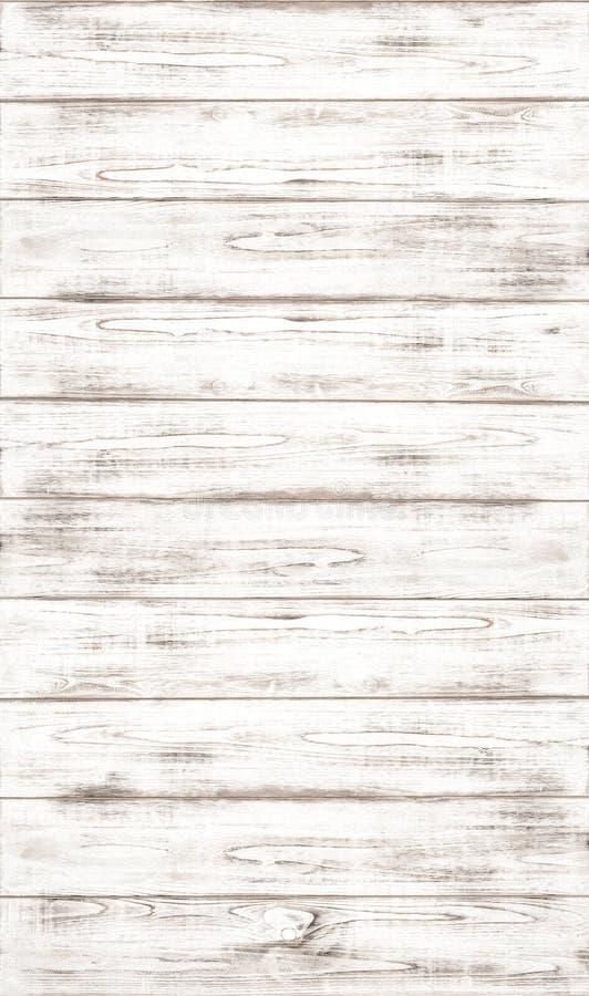 与自然木样式纹理的白色木背景 免版税图库摄影