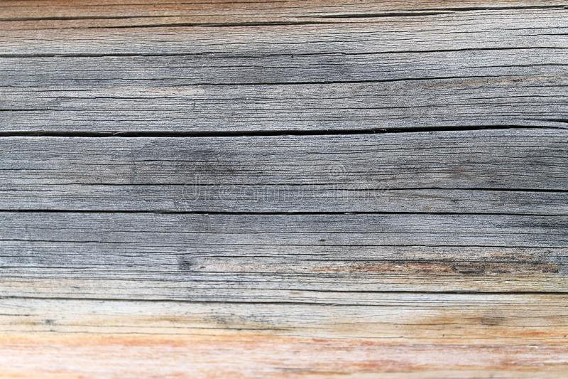 与自然样式的老木纹理 在树背景里面 老脏和被风化的灰色木墙壁板条构造b 免版税库存照片